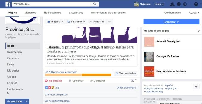 facebook previnsa