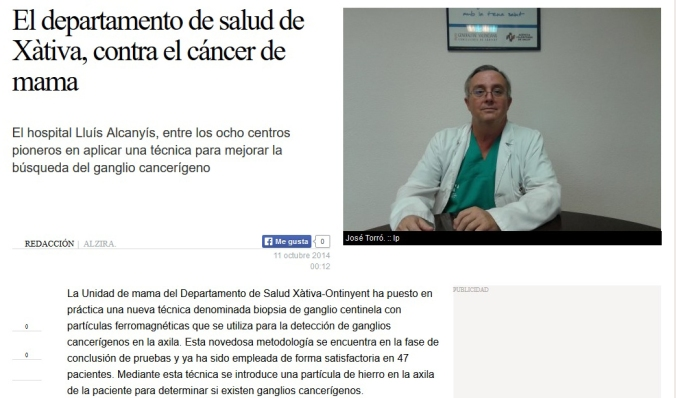 Noticia departamento Salud recortada